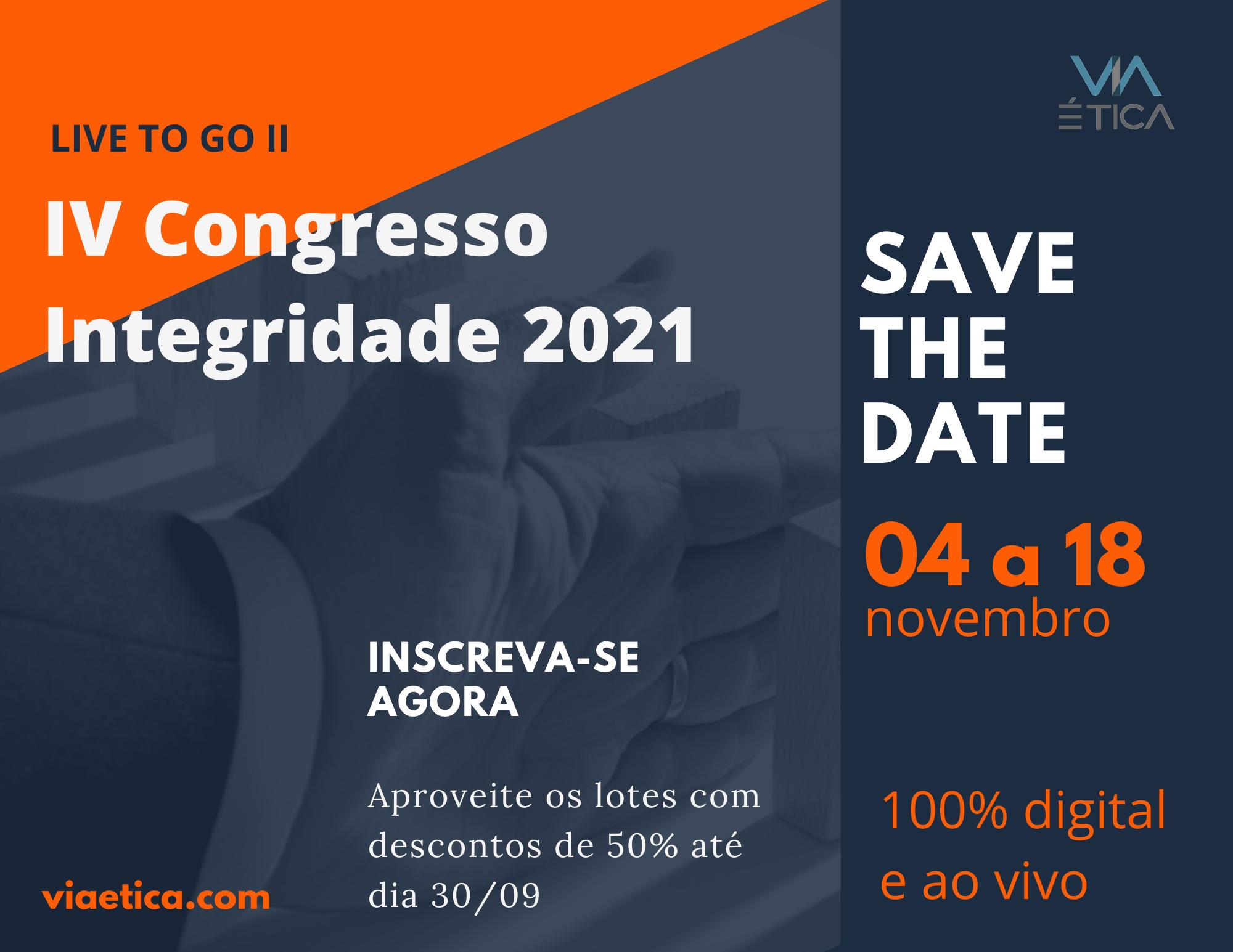 IV Congresso Integridade 2021 -  1o Lote